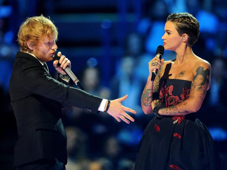 Ed-Sheeran_Ruby-Rose_GettyImages-494233296