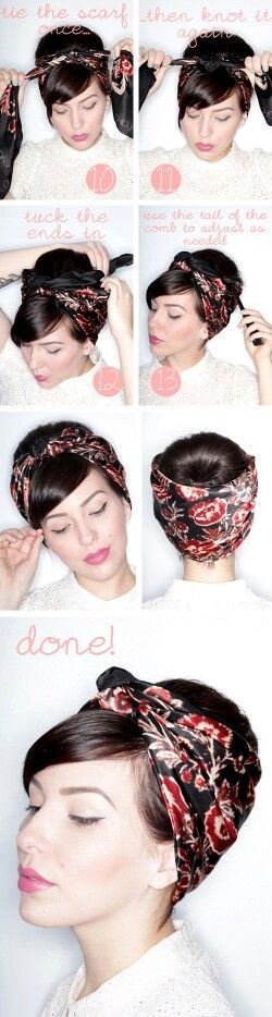 turbante o foulard in testa